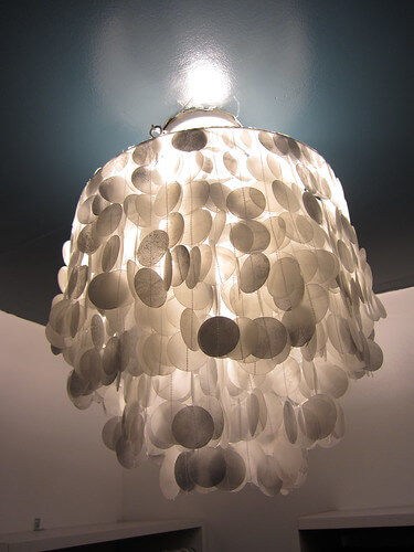 How to Make a Wax Paper Capiz Shell Chandelier
