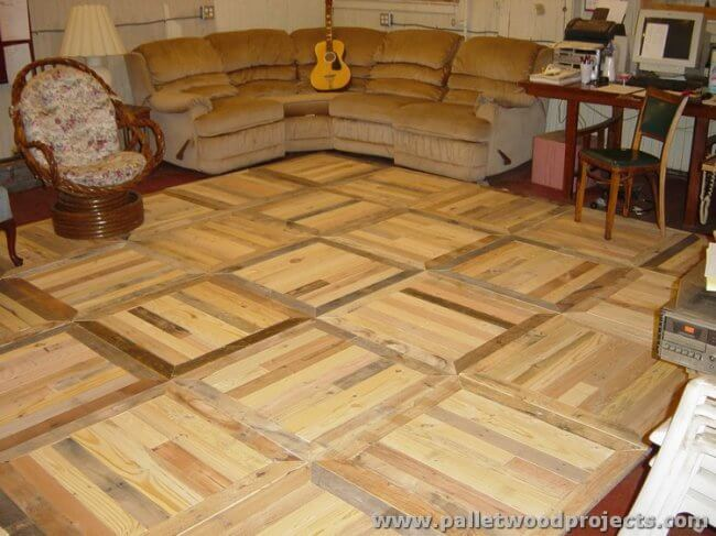 Pallet Wood Flooring Ideas