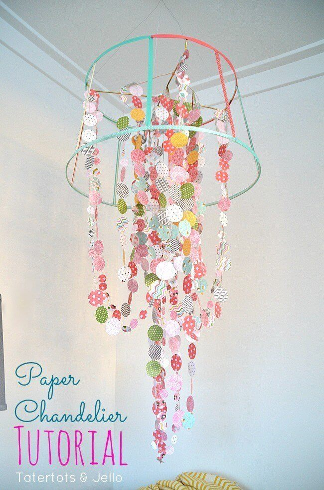 Paper And Ribbon Chandelier Tutorial