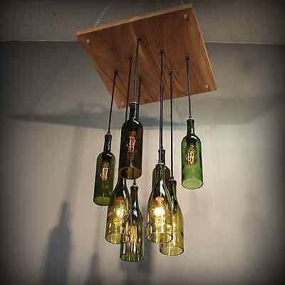 Repurposed Winbotee Bottle Pendant Chandelier