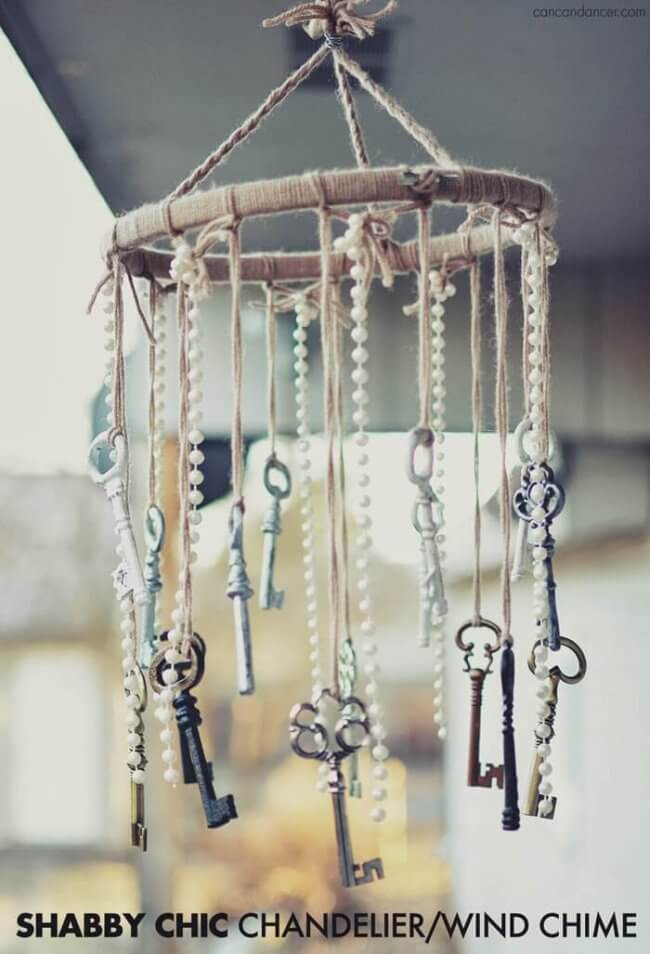 Shabby Chic Chandelier/Wind Chime