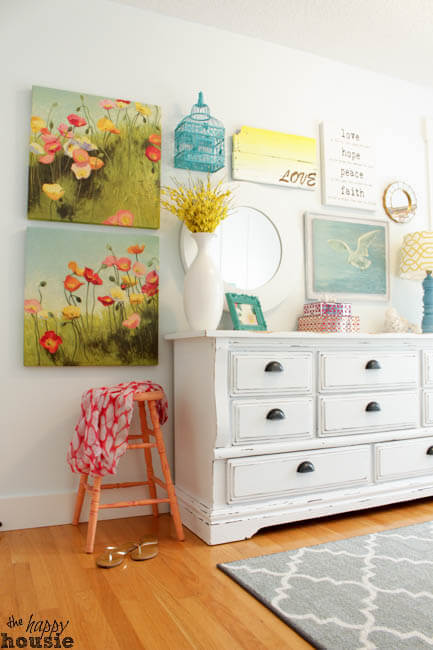 White Chalky Paint Dresser Makeover