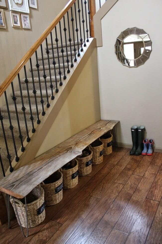 A Bench & Shoe Storage DIY