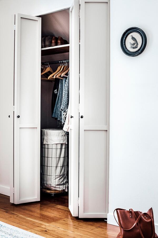 Bi-fold Closet Doors Makeover