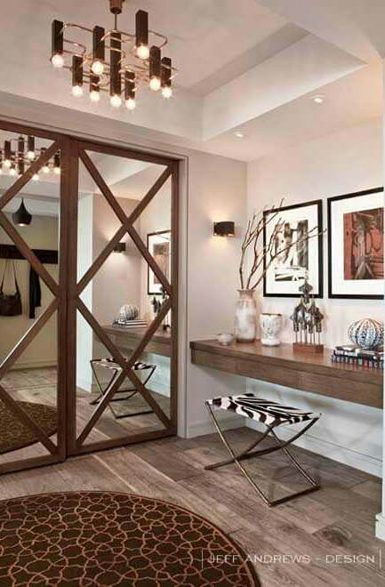 Classic Barn Closet Mirrored Door