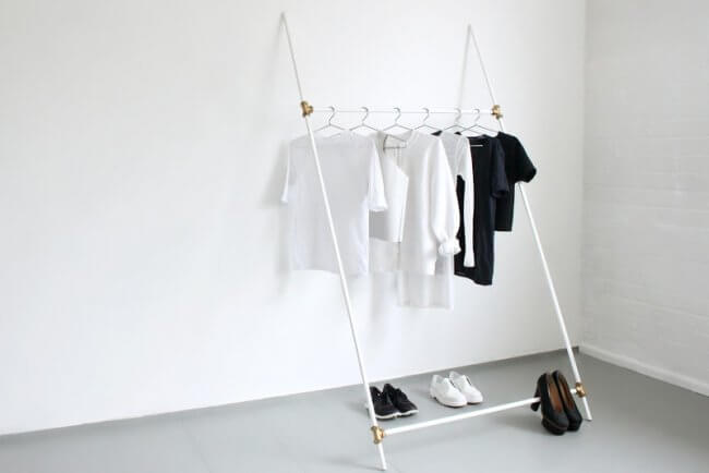 Clothing Rack, Made From Plumbing Tubes