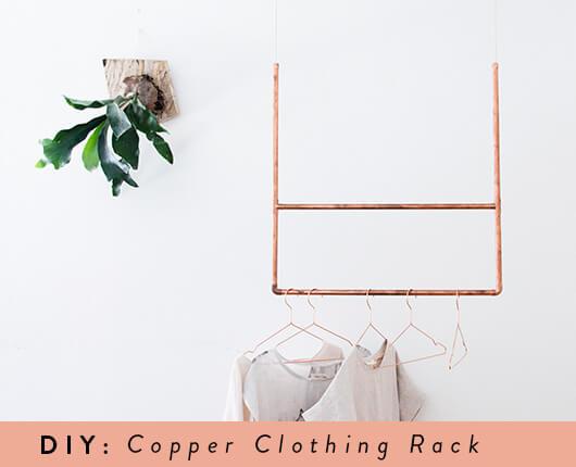 Copper Clothing Rack | Diy