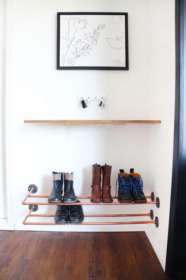 Copper Shoe Rack