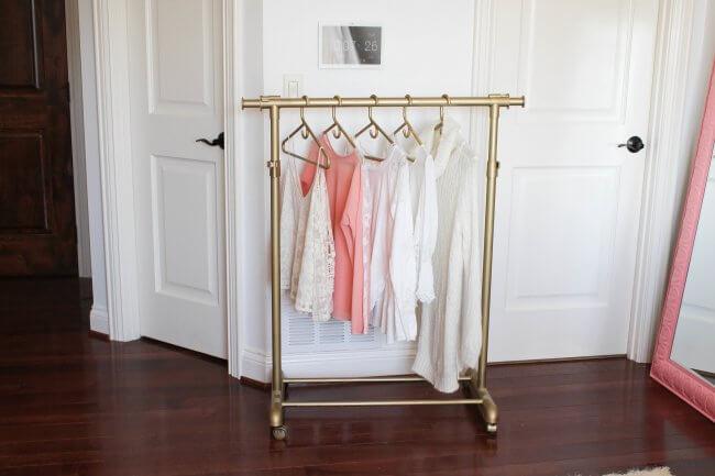 20 Astoundingly Simple Diy Clothes Rack Tutorials