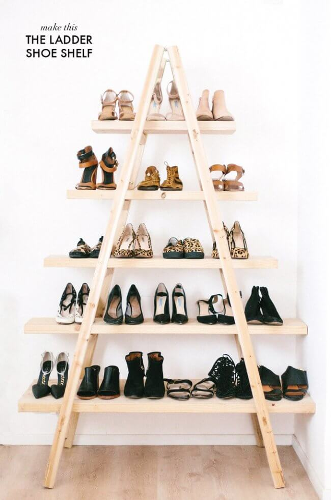 DIY Update: The Ladder Shoe Shelf