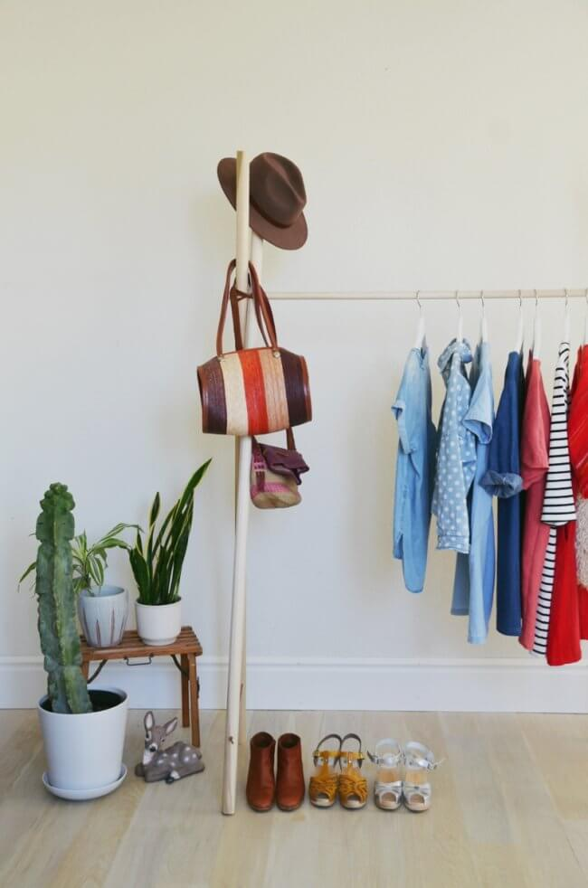 20 Astoundingly Simple Diy Clothes Rack Tutorials Crafty