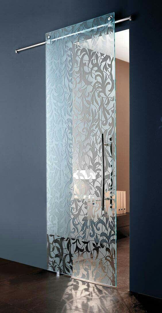 Frosted Glass Gliding Doors