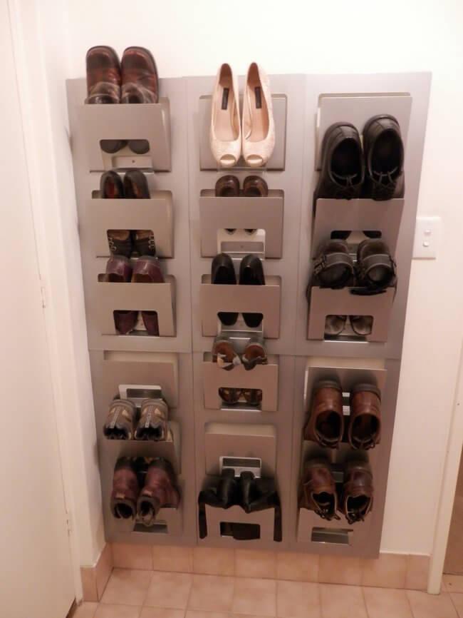 Spontan x 6 = shoe rack