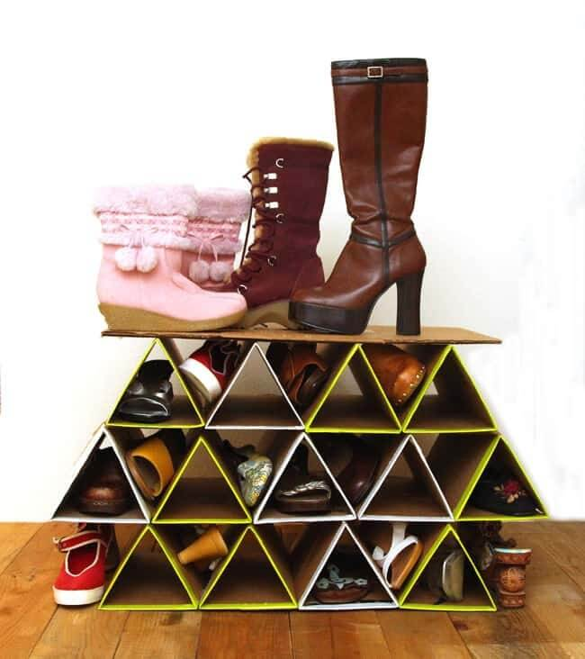 Super Space Saving Diy Shoe Rack ( For $0 )