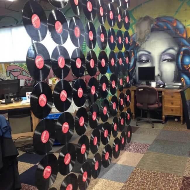 Vinyl Record Room Divider