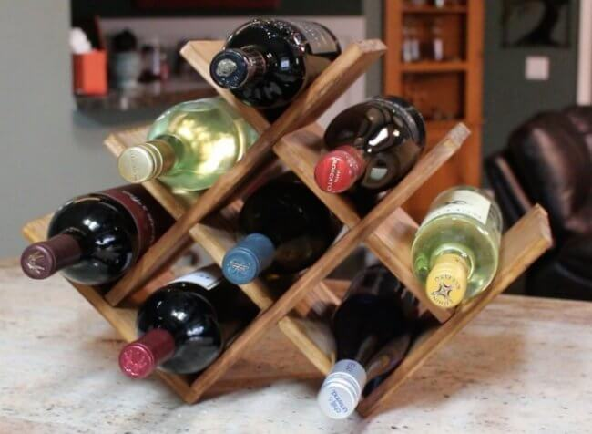 DIY Countertop Wine Rack