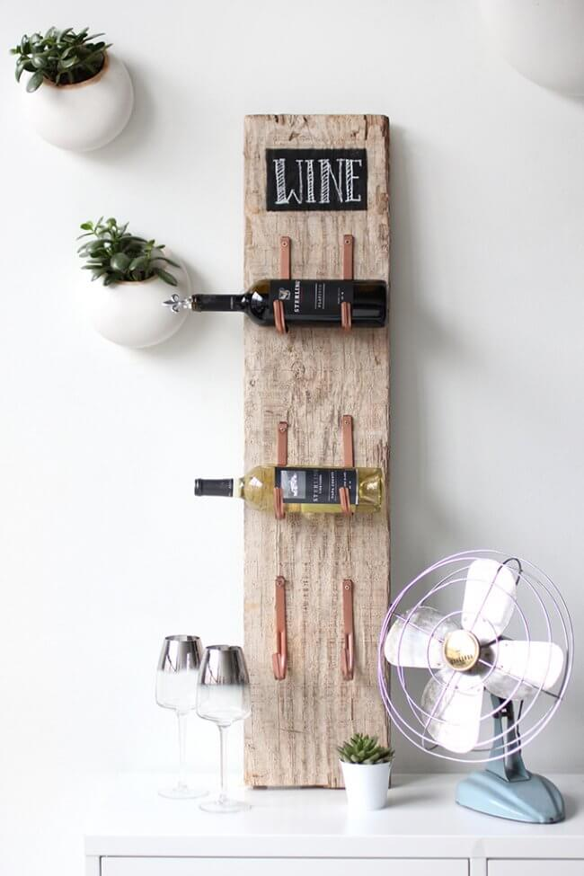 My Diy | Barn Wood Wine Rack