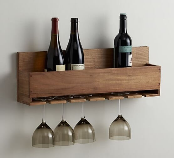 Wine Bottle And Stemware Rack
