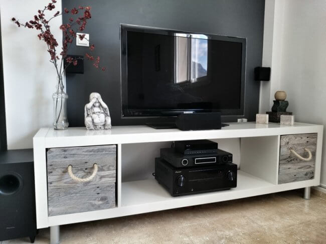 5 easy ways to create a unique KALLAX TV Stand