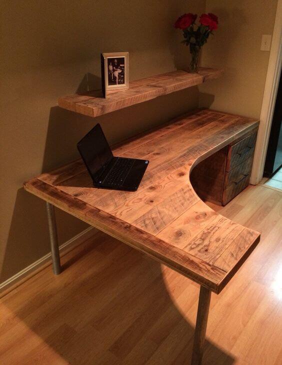 Curved Computer Desk
