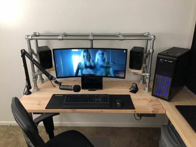 diy gaming computer stand
