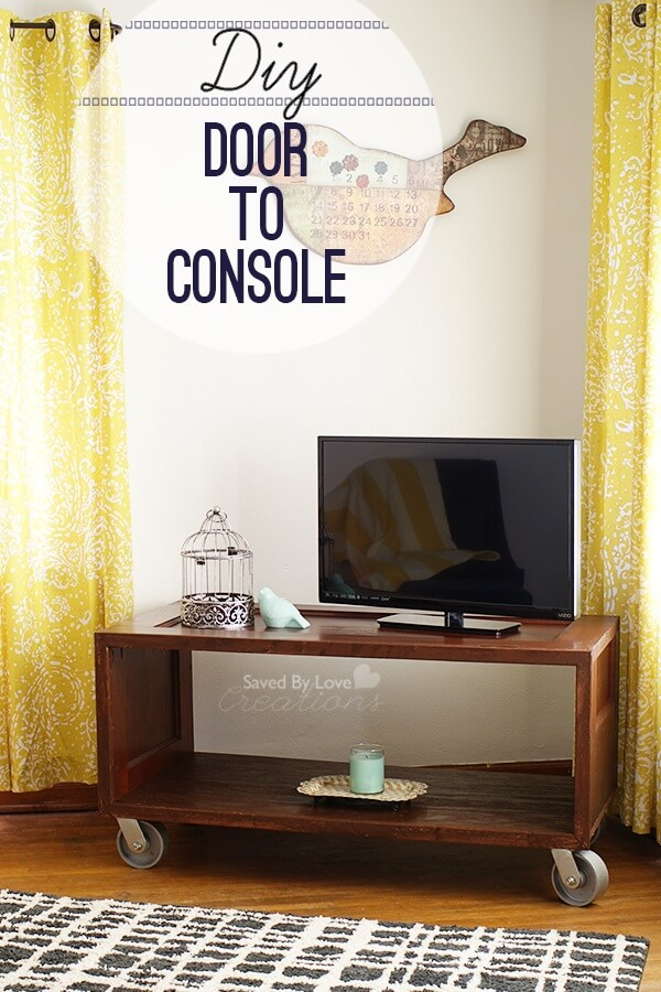 Make a Repurposed Door TV Console