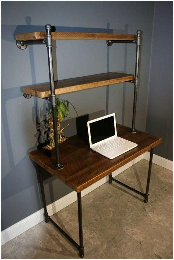 Piped Shelf Desk