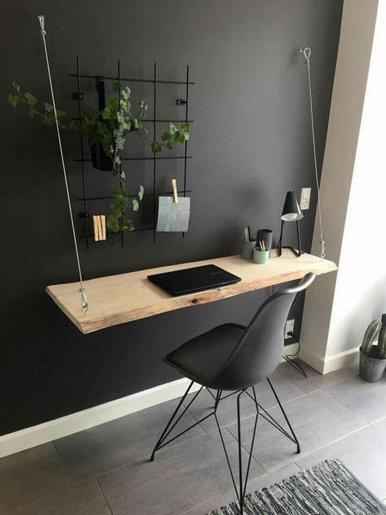 Wall Mount Computer Desk with Wire