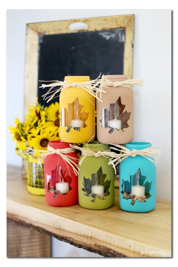 Fall Mason Jar Craft