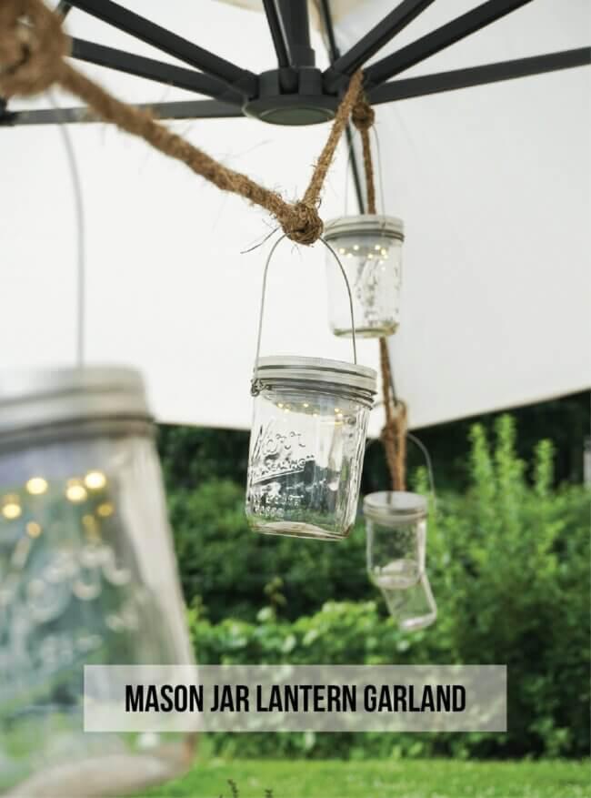 Mason Jar Lantern Garland