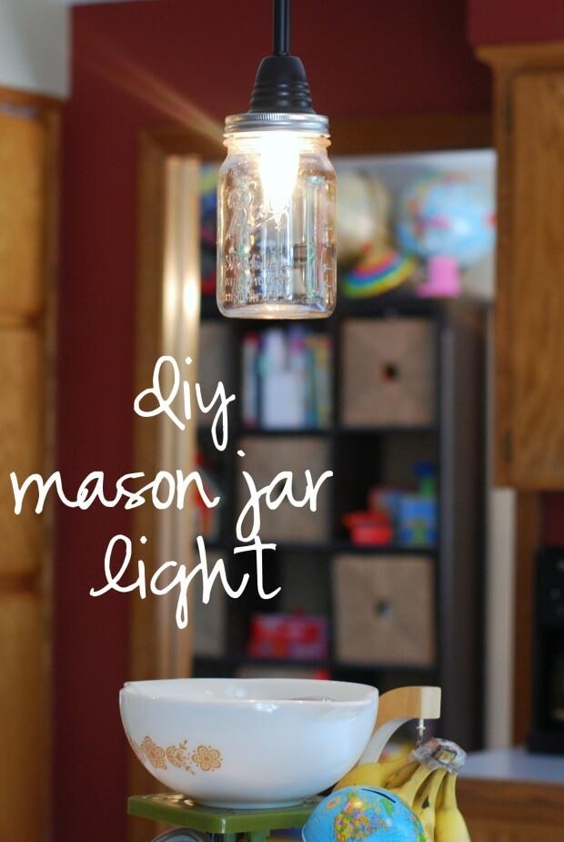 {diy} Mason Jar Pendant Light