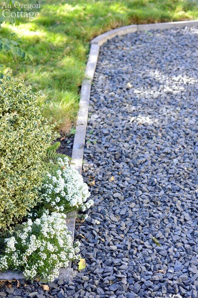 Asy Inexpensive Cement Garden Edging For Beds & Paths