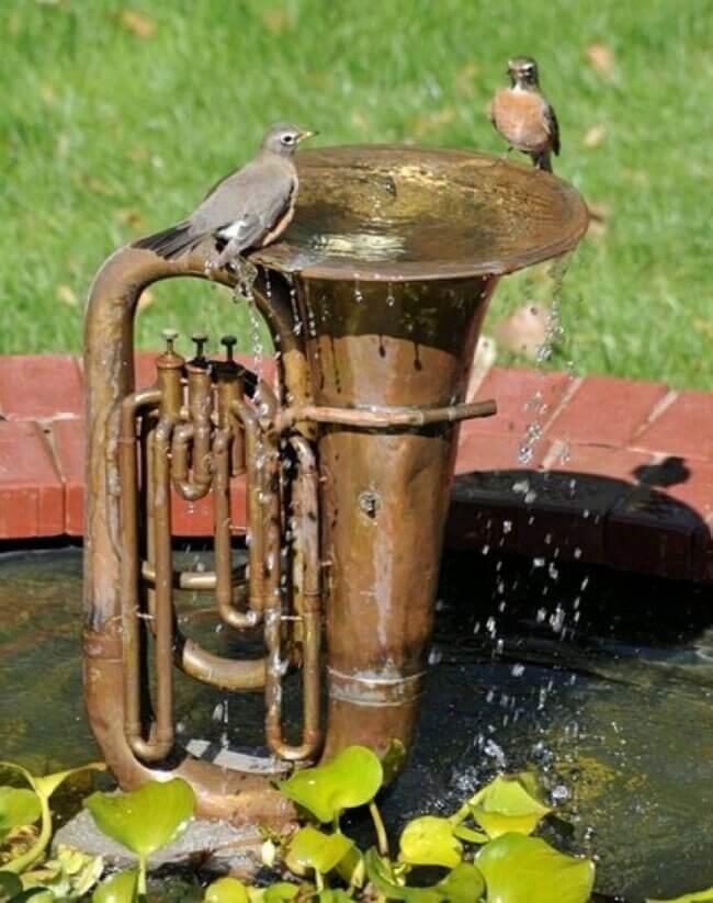 Creative bird bath ideas