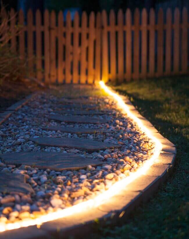 DIY Outdoor Lighting: The Secret Life of Rope Light