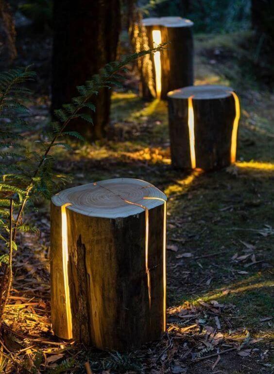 Home decor: Unique log lights