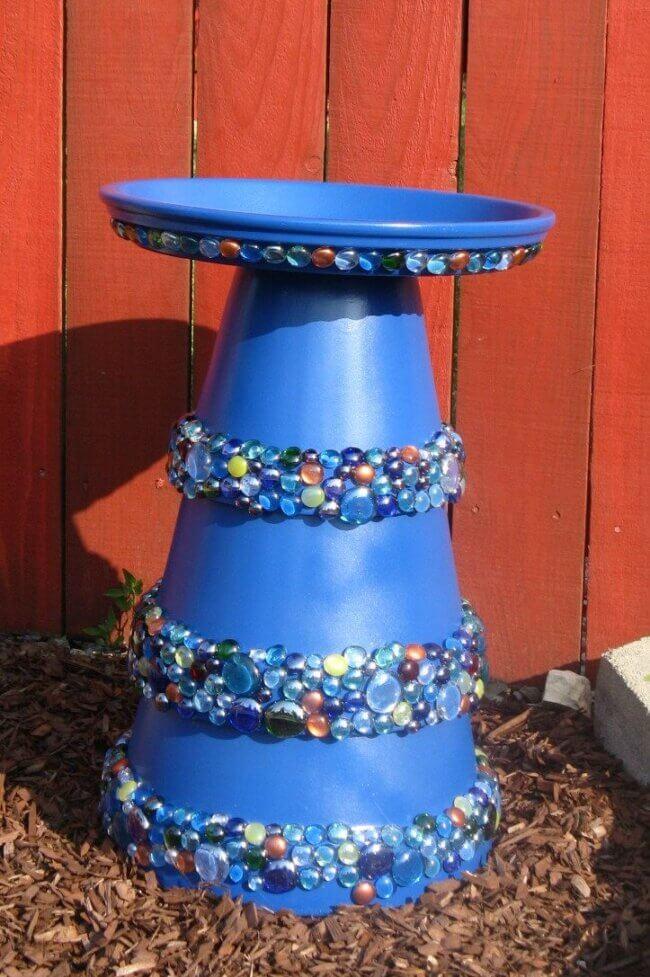 How To Make a Terra Cotta Pot Birdbath