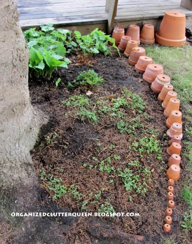 Setting Up My Terra Cotta Pot Edging