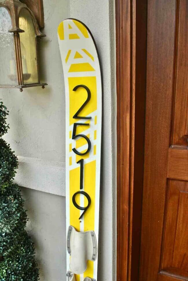 DIY Water Ski House Numbers