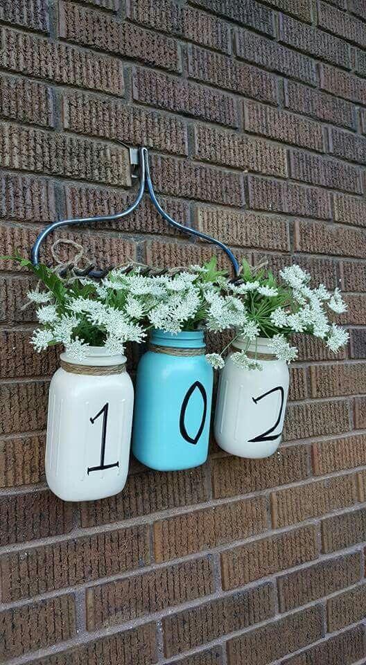 Mason Jars House Number