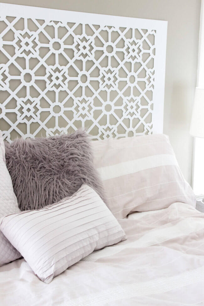 Our 20 dollars Moroccan Style Headboard