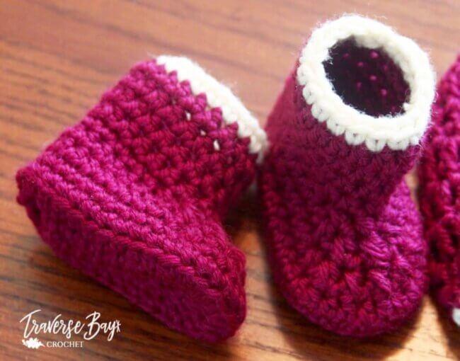 50 min Easy Crochet baby booties