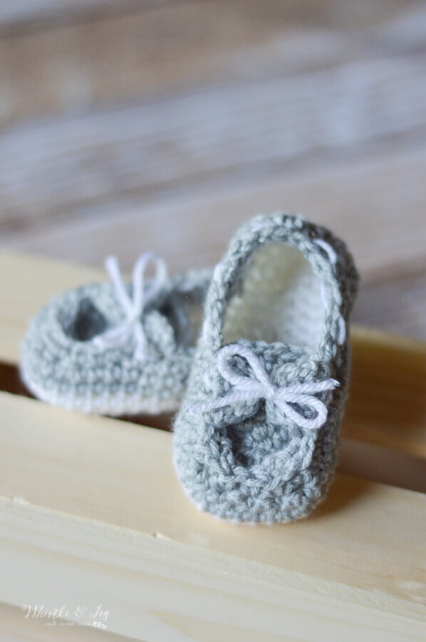 Baby Boat Booties Crochet Pattern