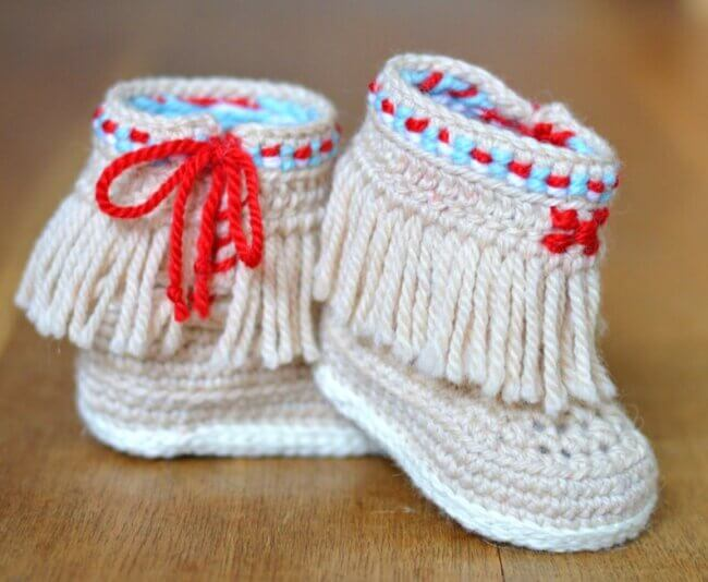 Baby Moccasin Booties Crochet Pattern