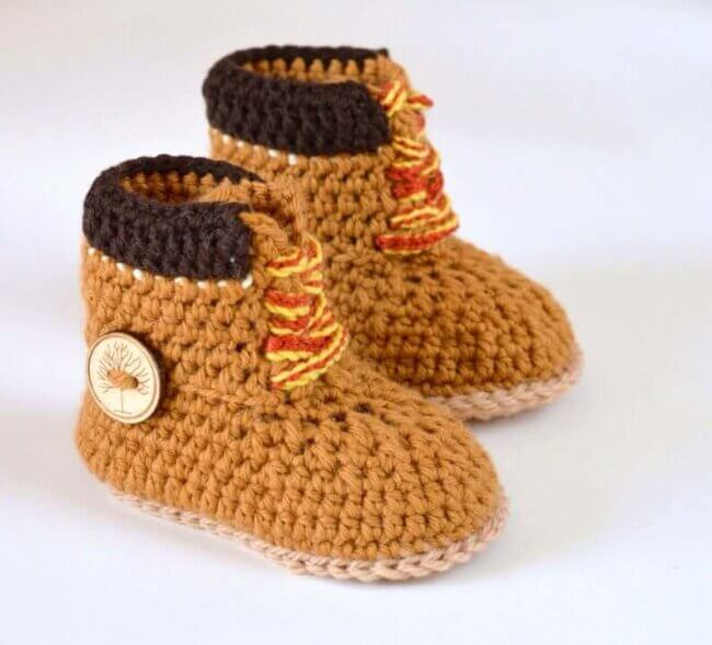 Baby Timberland Boots Crochet Pattern