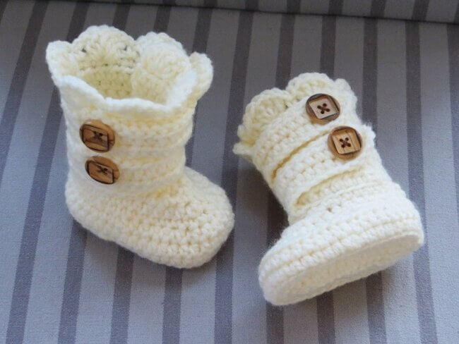 Crochet Baby Boots Pattern Classic Snow