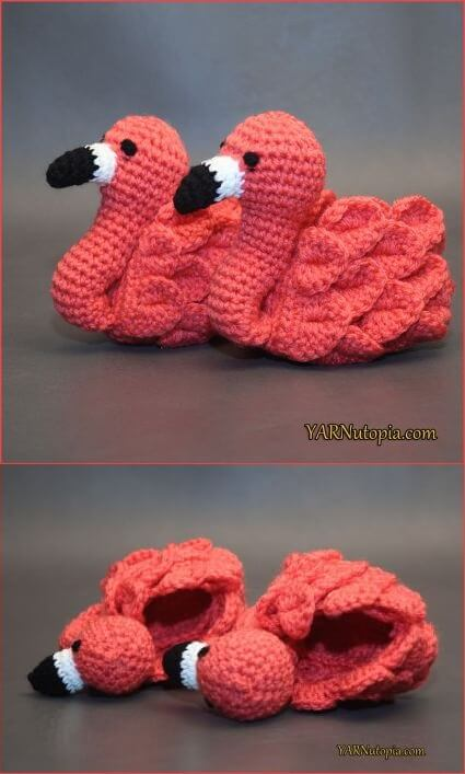 Crochet Tutorial Flamingo Feet Baby Booties