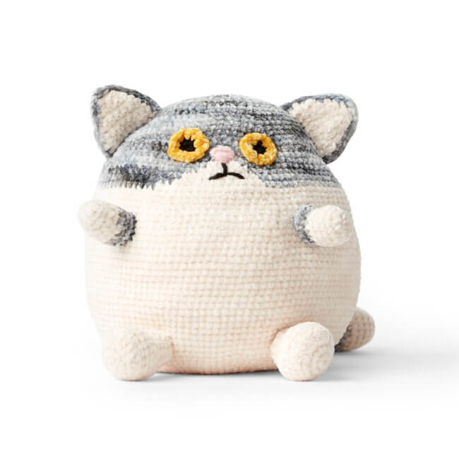 Bernat Fat Cat Crochet Stuffie