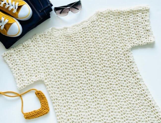 Crochet Summer Romance Top
