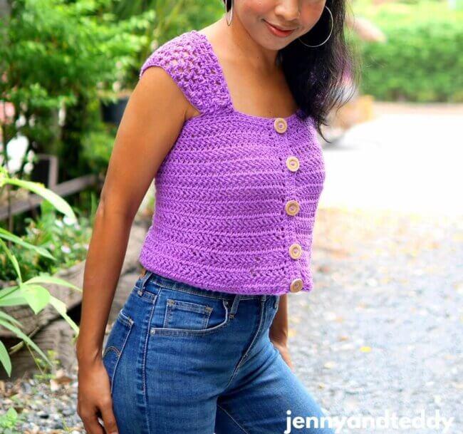 Everyday crop top free crochet pattern