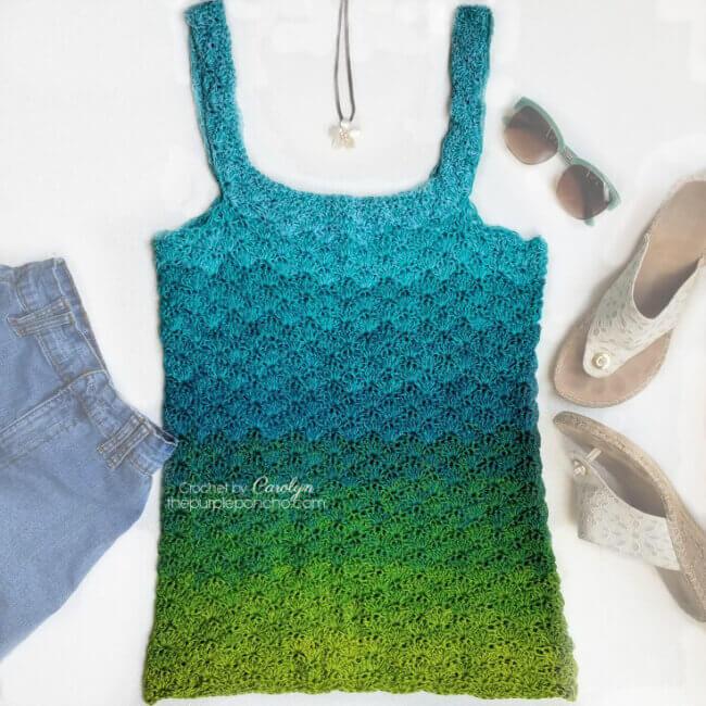 Seaglass Tank Top – Free Crochet Pattern